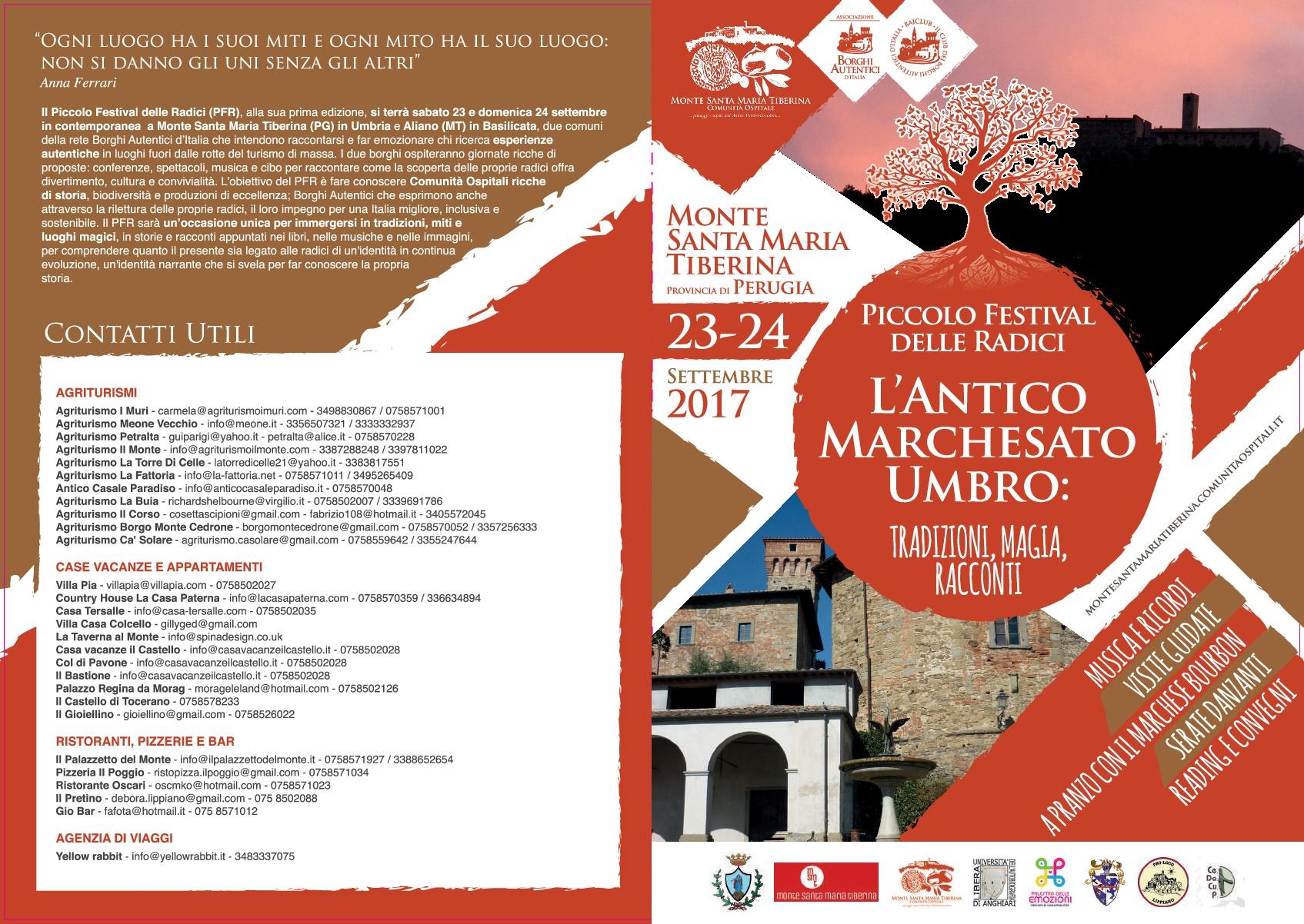 Piccolo Festival delle Radici 2017 Monte Santa Maria Tiberina